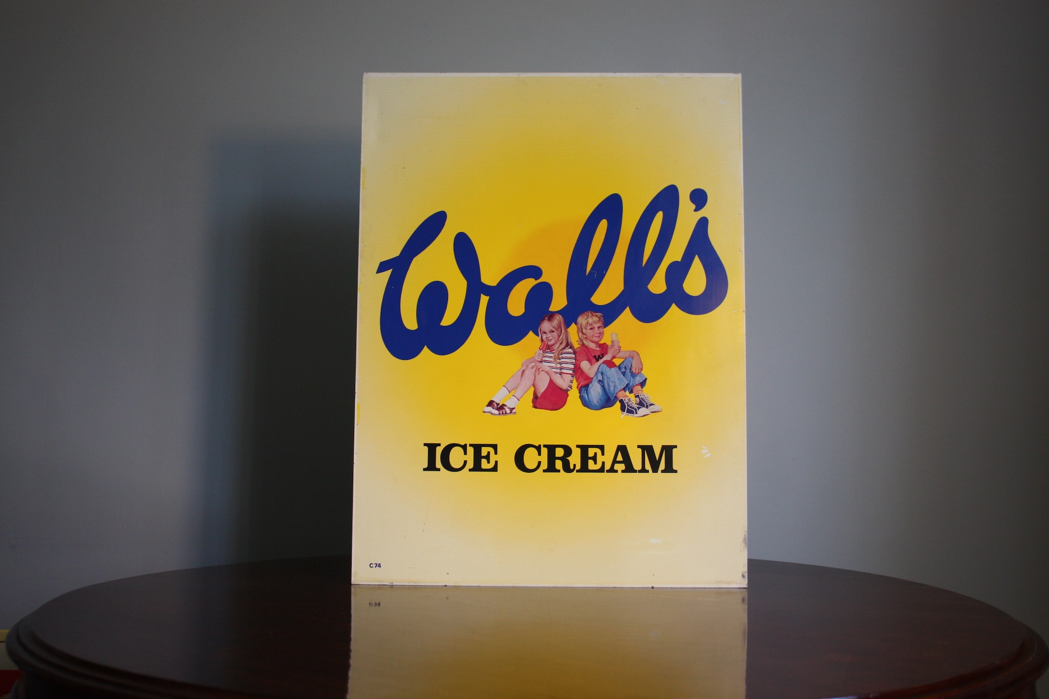 Walls Ice cream vintage sign 2 – Cream – Detour Eclectic